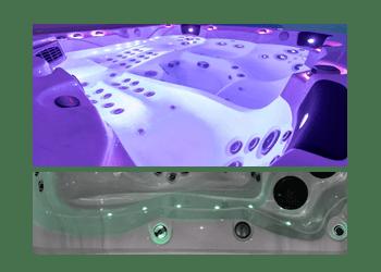 Chromothérapie et éclairage LED Ligne d'eauMaple spa