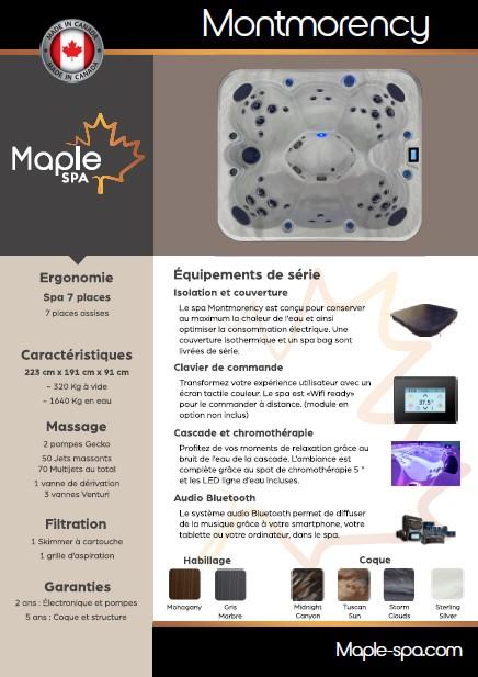 Fiche commerciale produit Spa Montmorency